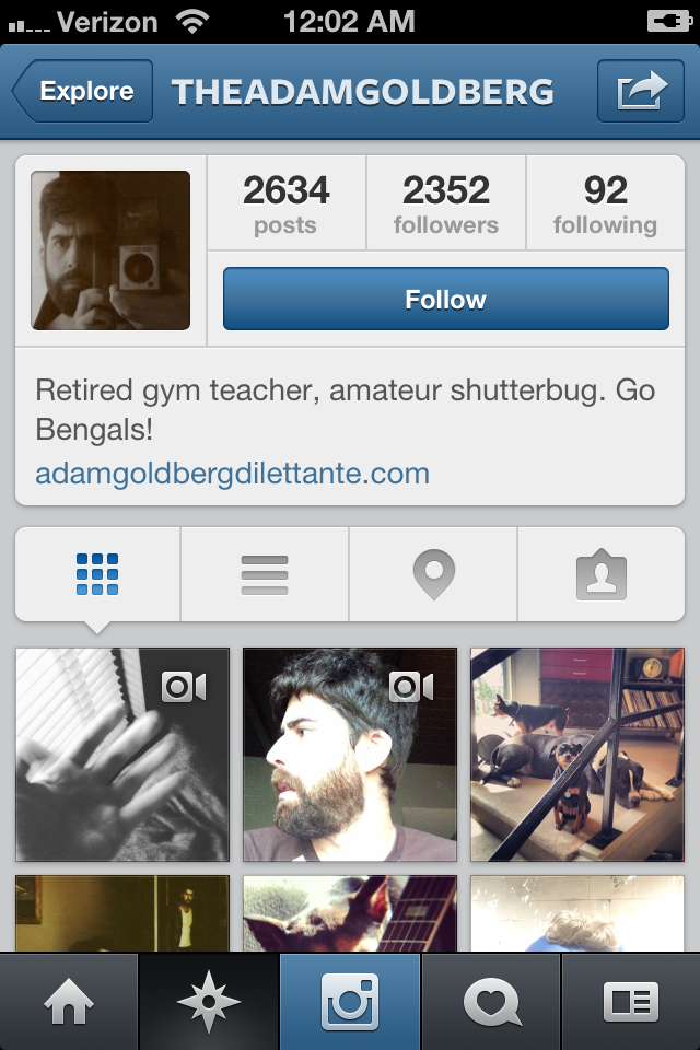 Adam Goldberg on Instagram - 2,352 Followers