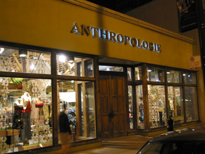The Signage Of Negative Space: Anthropologie
