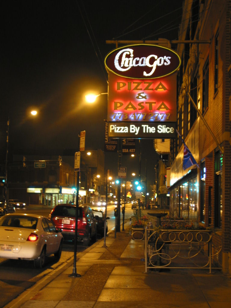 The signage of negative space chicago 39 s pizza for 4 elements salon chicago
