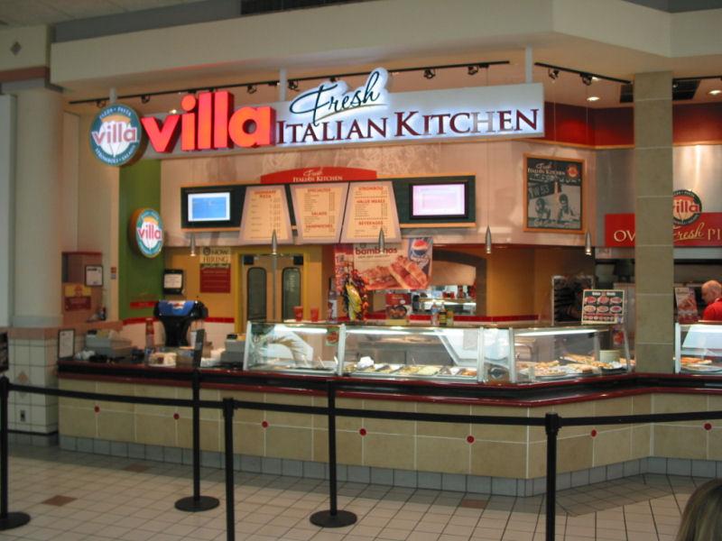 the signage of negative space villa fresh italian kitchen