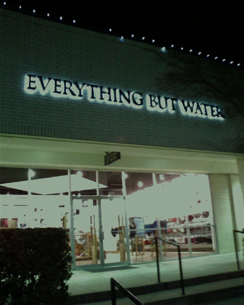 The Signage Of Negative Space Everything But Water