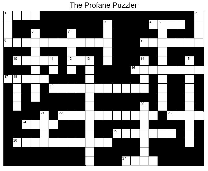 Who Wants A Dirty Word Crossword Puzzle