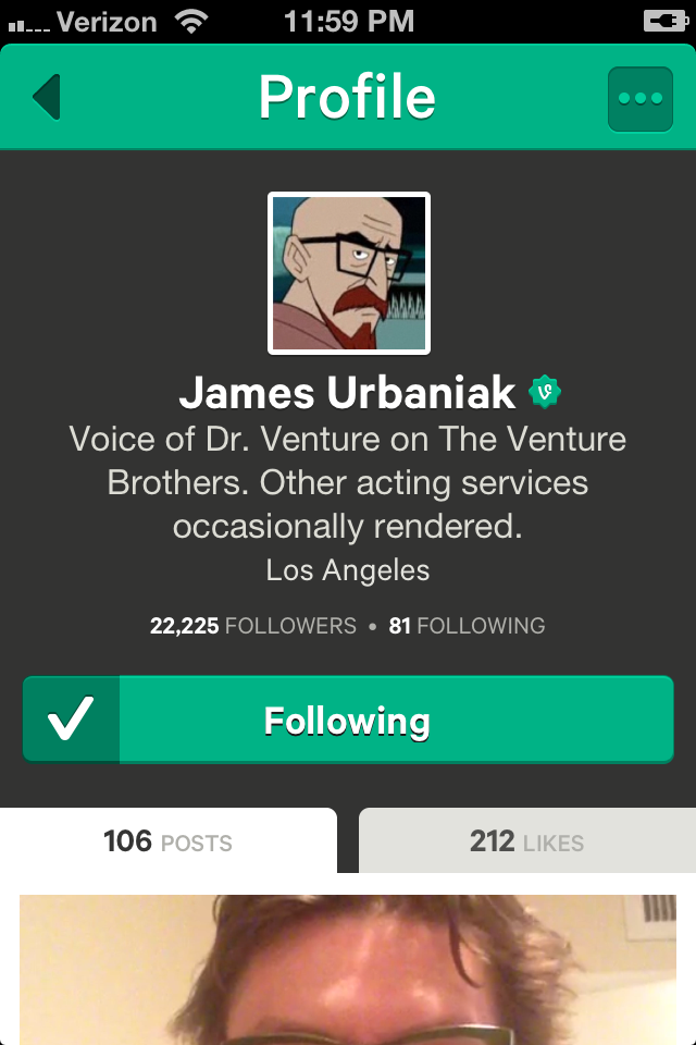 James Urbaniak on Vine - 22,225 Followers